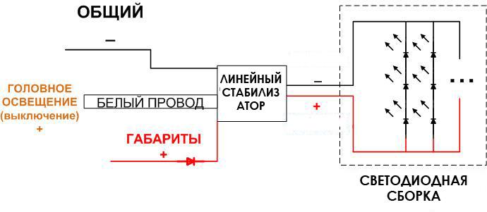 Схема подключения линейного