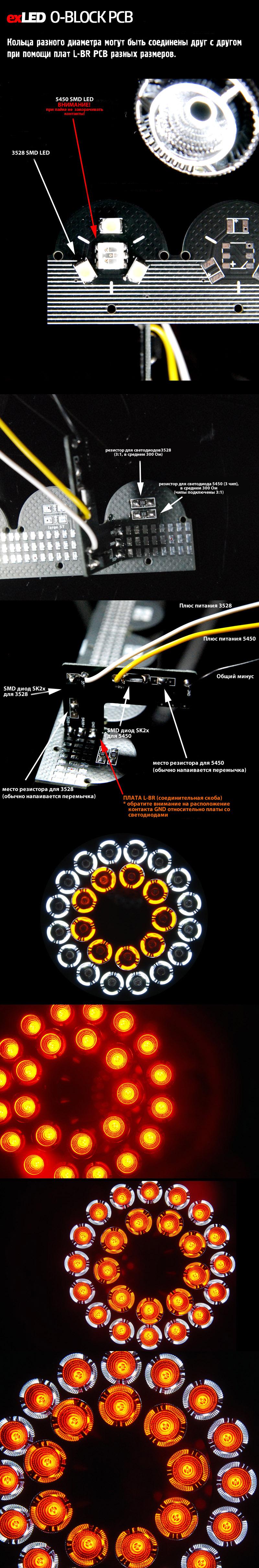 Плата O-BLOCK D-24 circle PCB 80mm